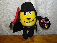 """M&M's M & M s Yellow M&M dressed as Darth Vader from Star Wars Plush 8"""" tall NWT"""