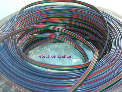 RGB 4-Pin Extension Cable Wire Cord 4 3528 5050 RGB LED Strip WH 1007#22(17/0.1