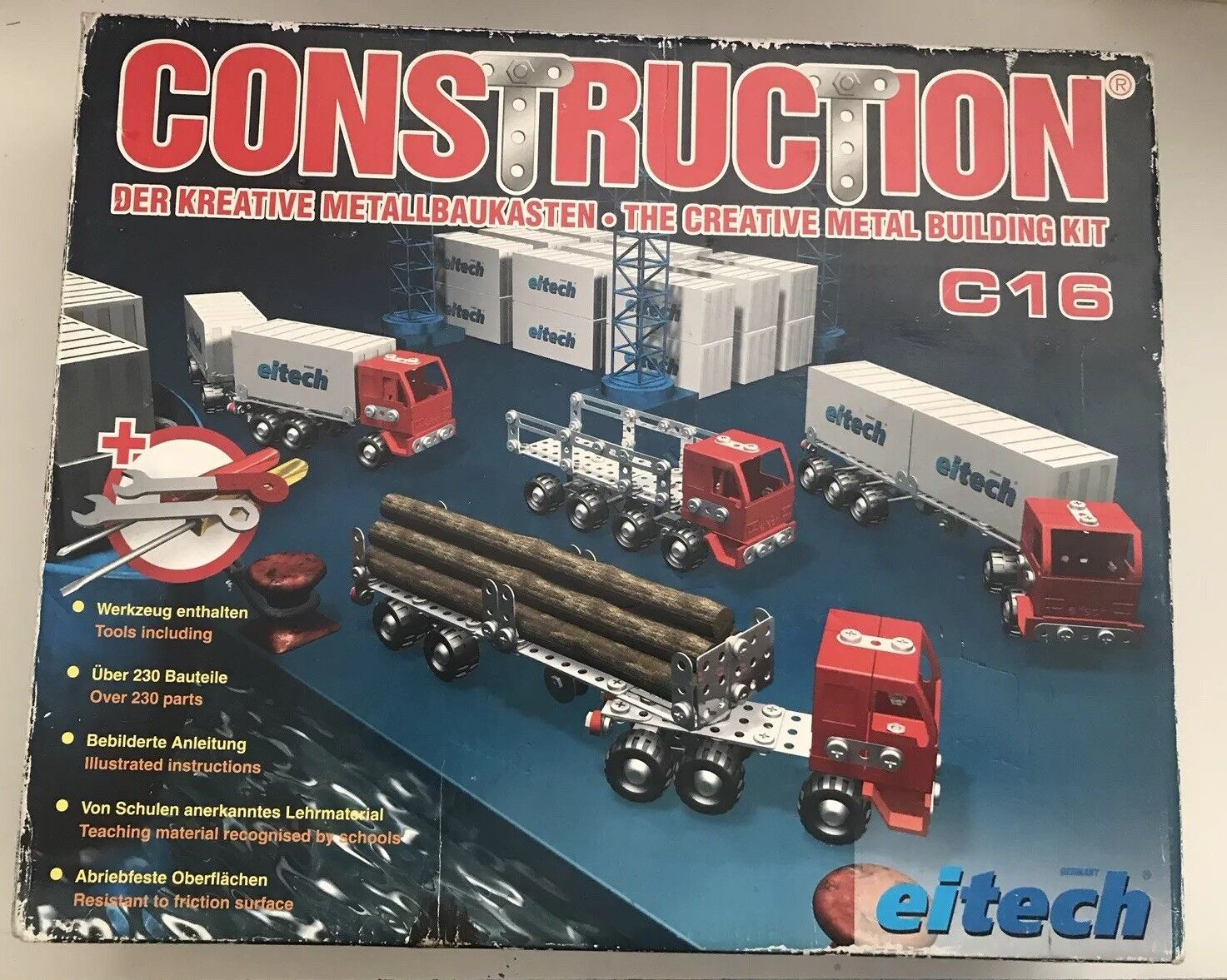 EITECH CONSTRUCTION C16 LORRIES - RARE DISCONTINUED - UNUSED - Metallbaukasten