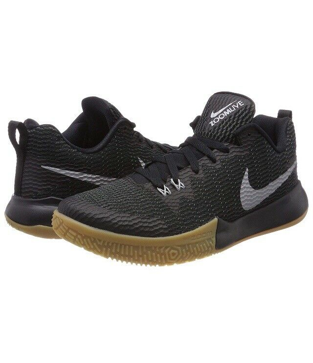711d8e6b755 Men Nike Zoom Live Basketball Lifestyle Black Silver Gum AH7566-001 II  shoes nsthkg4921-new shoes