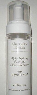 2- 6oz FOAMING Facial Wash 10%Glycolic Acid  Daily Gentle Peel, Acne.Blackheads
