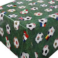 Wachstuch Fußball Grün Lebensmittelecht Breite 80 - 130 cm  Länge whl Tischdecke