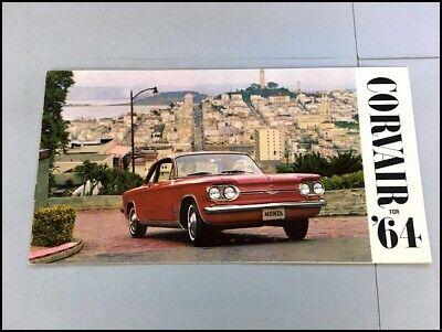 1964 Chevy Chevrolet Corvair Monza 700 and 500 Color Brochure Catalog  Prospekt