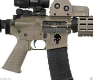 AR15 Lower DecalsPunisher AR-15 Gun MAG .223 5.56 Stickers 3 Pack White 3