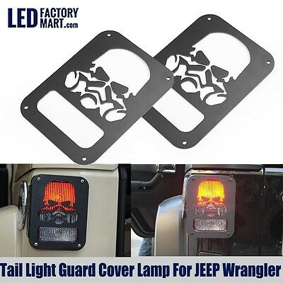 Taillight Accessories Protect Skull Model Rear Guard For Jeep Wrangler 07-16