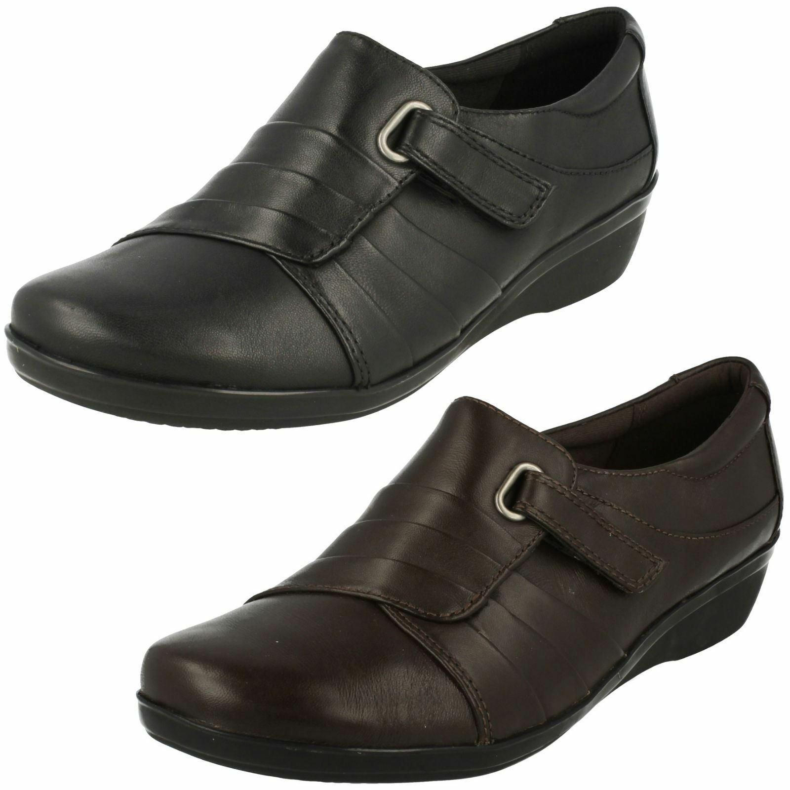 Ladies Clarks Shoes Low Wedge Smart Shoes Clarks