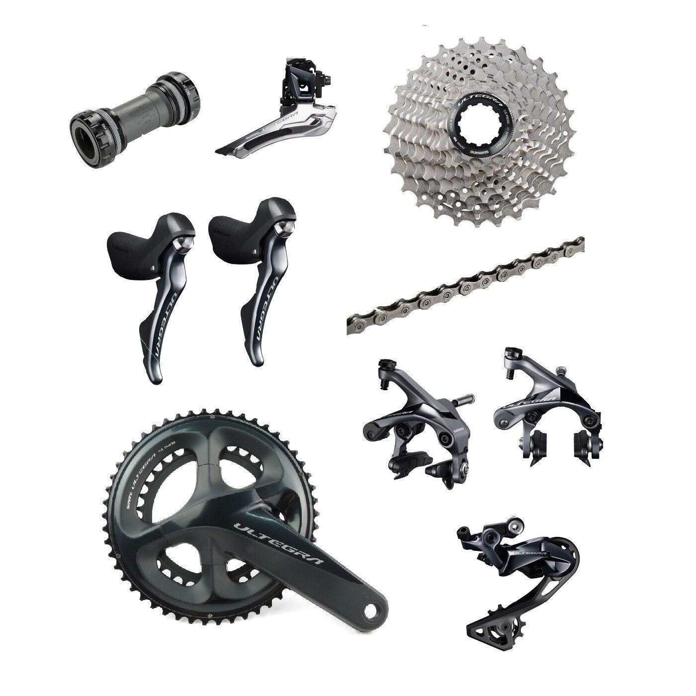 Shimano Ultegra R8000 2 x 11 Speed 53 39T Road Racing Bike Groupset Build Kit