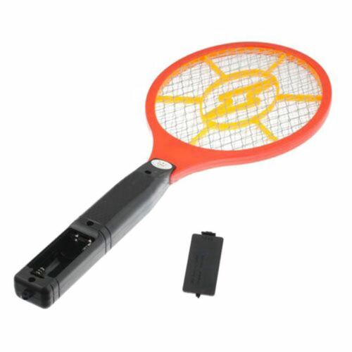 Mosquito Killer Electric Tennis Bat Racket Insect Fly Bug Zapper Wasp Swat O8E3