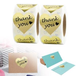 1 Heart Thank You Stickers 1000pcs Gold Heart Thank You Stickers Color Thank You Seals,Wedding Stickers