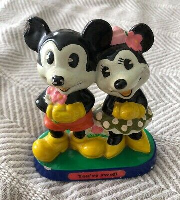 Vintage YOU'RE SWELL Disney MICKEY & MINNIE MOUSE Figurine ...