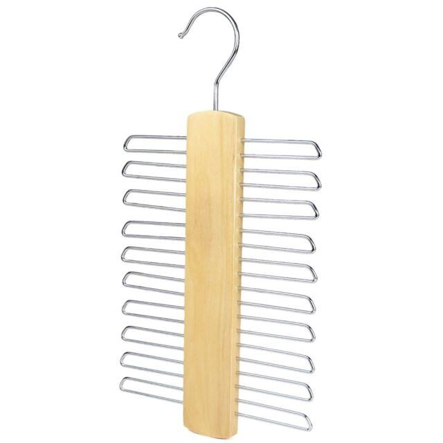 Metal /& Wooden Mens Womens Accessory Necklace Tie Belt Scarf Tidy Holder Hanger
