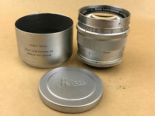 Leica 12.5cm f/2.5 Leitz Hektor Lens Midland Canada #1223740 w/ Shade and Caps