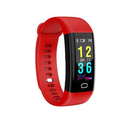 F07 IP68 Color Screen Blood Pressure/Heart Rate Monitor Smart Bracelet Watch