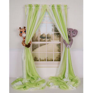 CURTAIN-CRITTERS-JUNGLE-SAFARI-GIRAFFE-amp-ELEPHANT-CURTAIN-TIE-BACK-COLLECTOR-SET