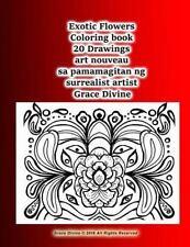 Exotic Flowers Coloring Book 20 Drawings Art Nouveau Sa Pamamagitan Ng...