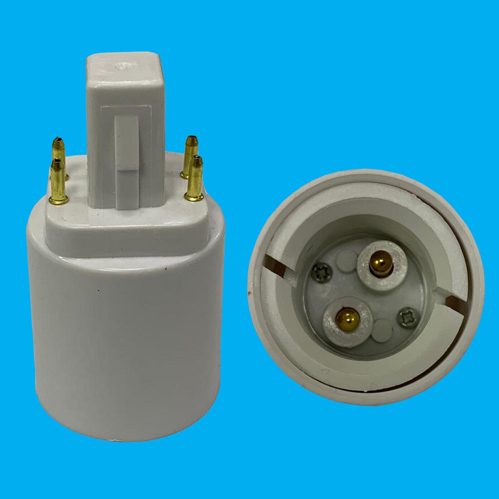 50x G24 4 Pin To BC B22 Bayonet Light Bulb Adaptor Lamp Fitting ConGrüner Holder