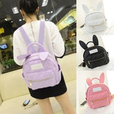 Bunny Ear Backpack Wonderland Rabbit Pastel Cute Harajuku Small Daily School Bag
