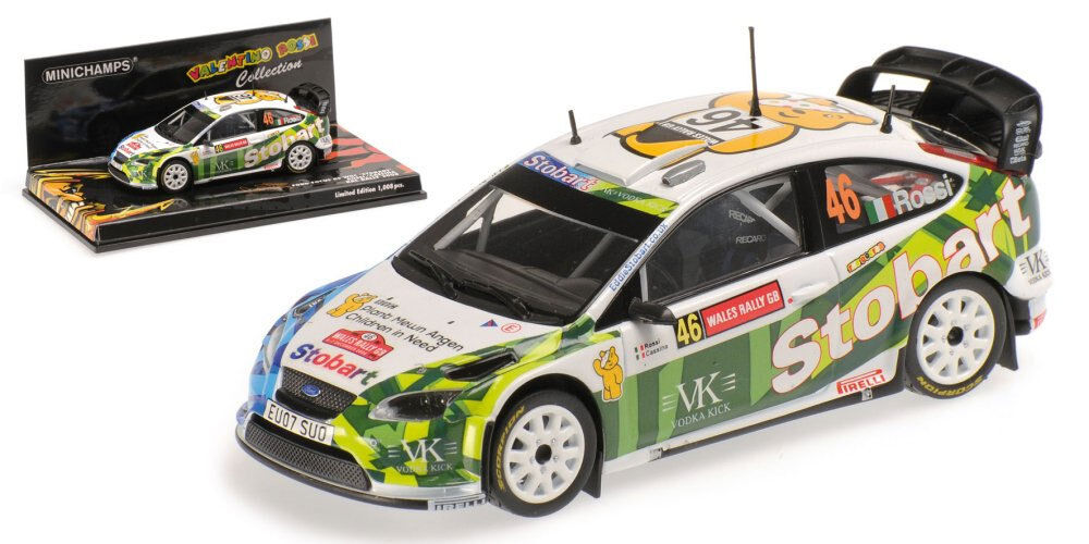 Minichamps Ford Focus RS WRC 'Stobart' RAC GB 2008 Valentino Rossi 1 43 Scale