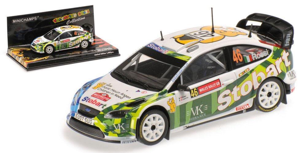 Minichamps Ford Focus RS WRC  Stobart  RAC go 2008 Valentino Rossi, échelle 1 43,