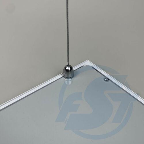 Seilabhängung Premium für LED Panel 4er Satz Stahlseil Befestigung Aufhängung
