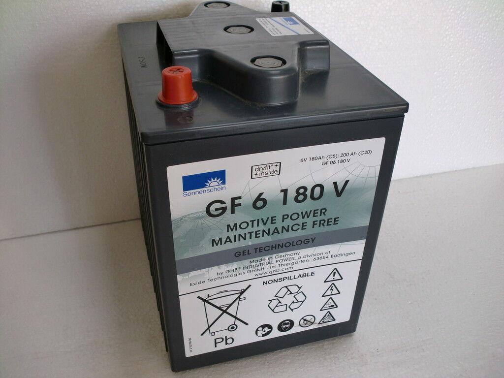 Sonnenschein Gel Batterie Dryfit GF 06 180 V 6V 200 Ah (C20h) Industriebatterie