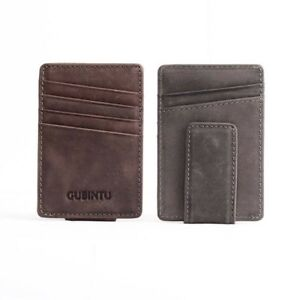 Men-ID-Credit-Card-Holder-Bifold-Wallet-Money-Clip-Coin-Purse-Genuine-Leather