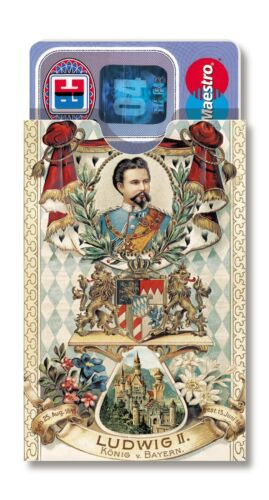 cardbox KÖNIG LUDWIG II von Bayern Bavaria Souvenir king Louis 2 Neuschwanstein