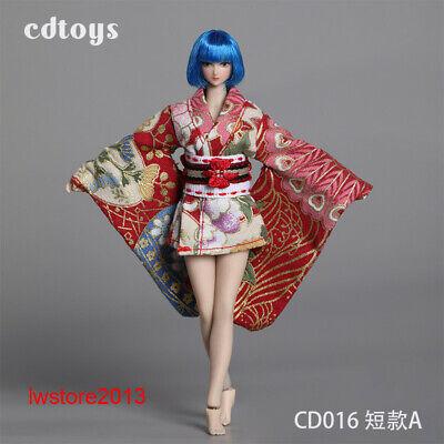 CDtoys 1//12 Female kimono Costume Clothes Short Dress 12/'/' Phicen Figure Suit Se