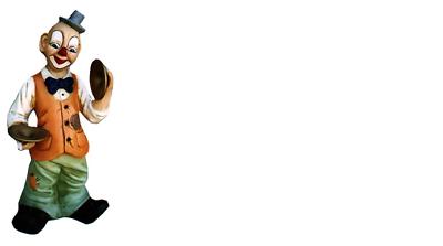 Candido Design Clown Con Piastre Personaggio Statua Scultura Figure Sculture Decorazione 5015 Nuovo- Rendere Le Cose Convenienti Per Le Persone