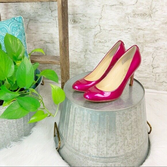 77d82459b39 Ivanka Trump Itjanie Women's Hot Pink Patent Leather Heels Pumps Size 6.5 M