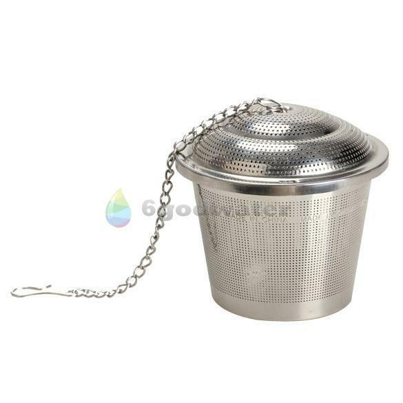 Tea Mesh 304 Stainless Steel Herbal Ball Infuser Tea Strainer  Large Size Silver