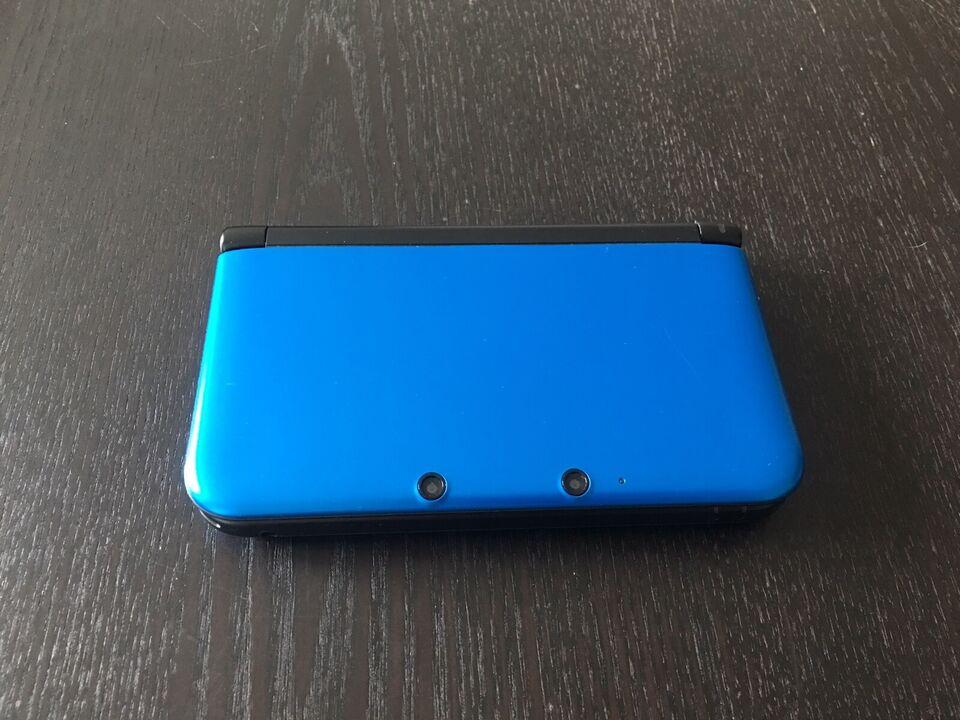 Nintendo 3DS, XL Blå m. oplader, spil og taske