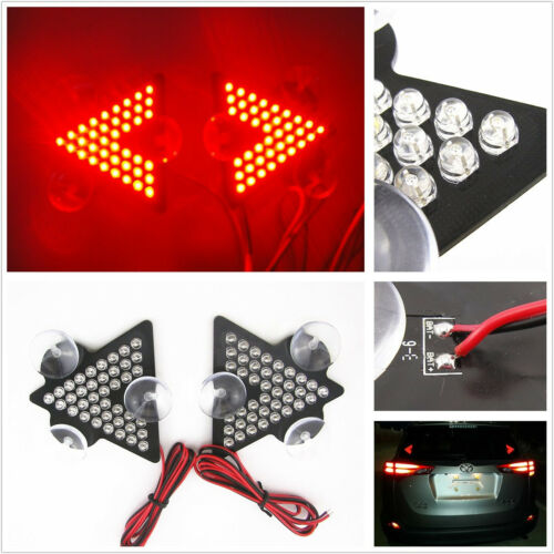 Arrow Type 39LED Car Interior Windshield Brake Signal Lamp Red Light For Lincoln