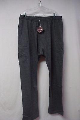 Nwt Big Men's Cotton Works Fleece Cargo Sweatpants Size 4xl Medium Gray #342z Activewear Bottoms