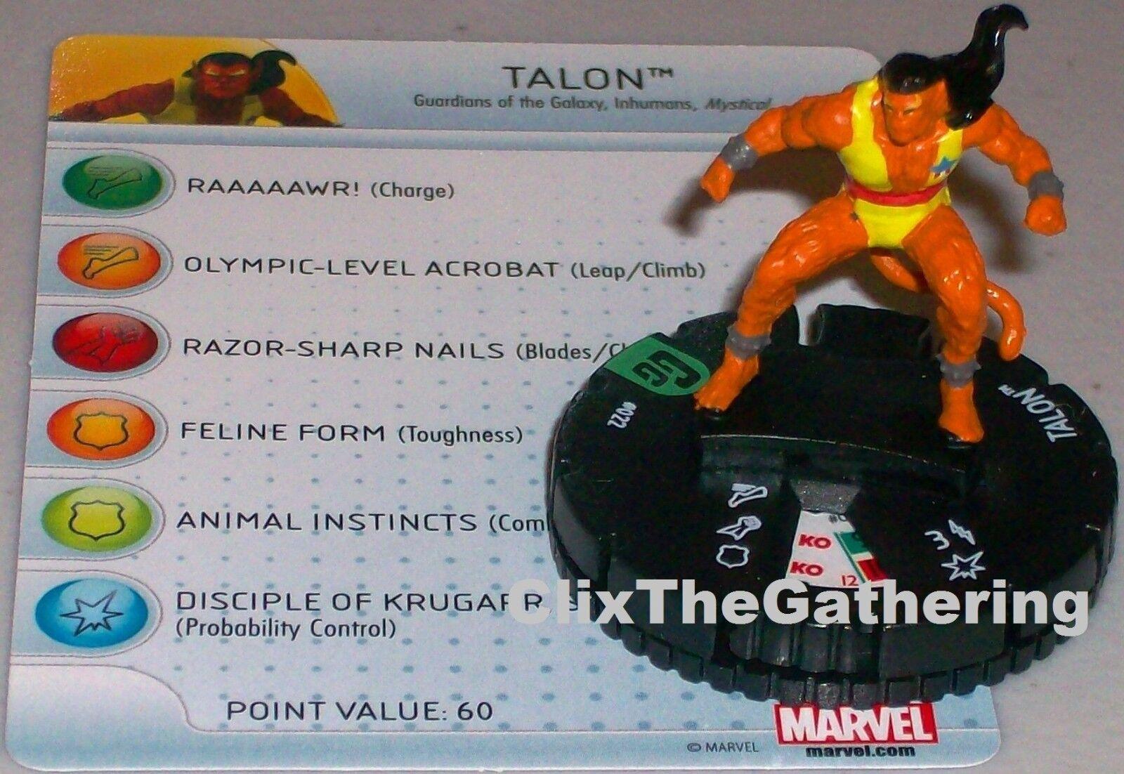 Talon  022 Guardianes de la Galaxia Marvel Heroclix Heroclix Heroclix fce16a