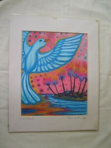 "RARE SHANNON MCINTYRE ""LOVE DOVE"" SIGNED PRINT COLORFUL 11X14"