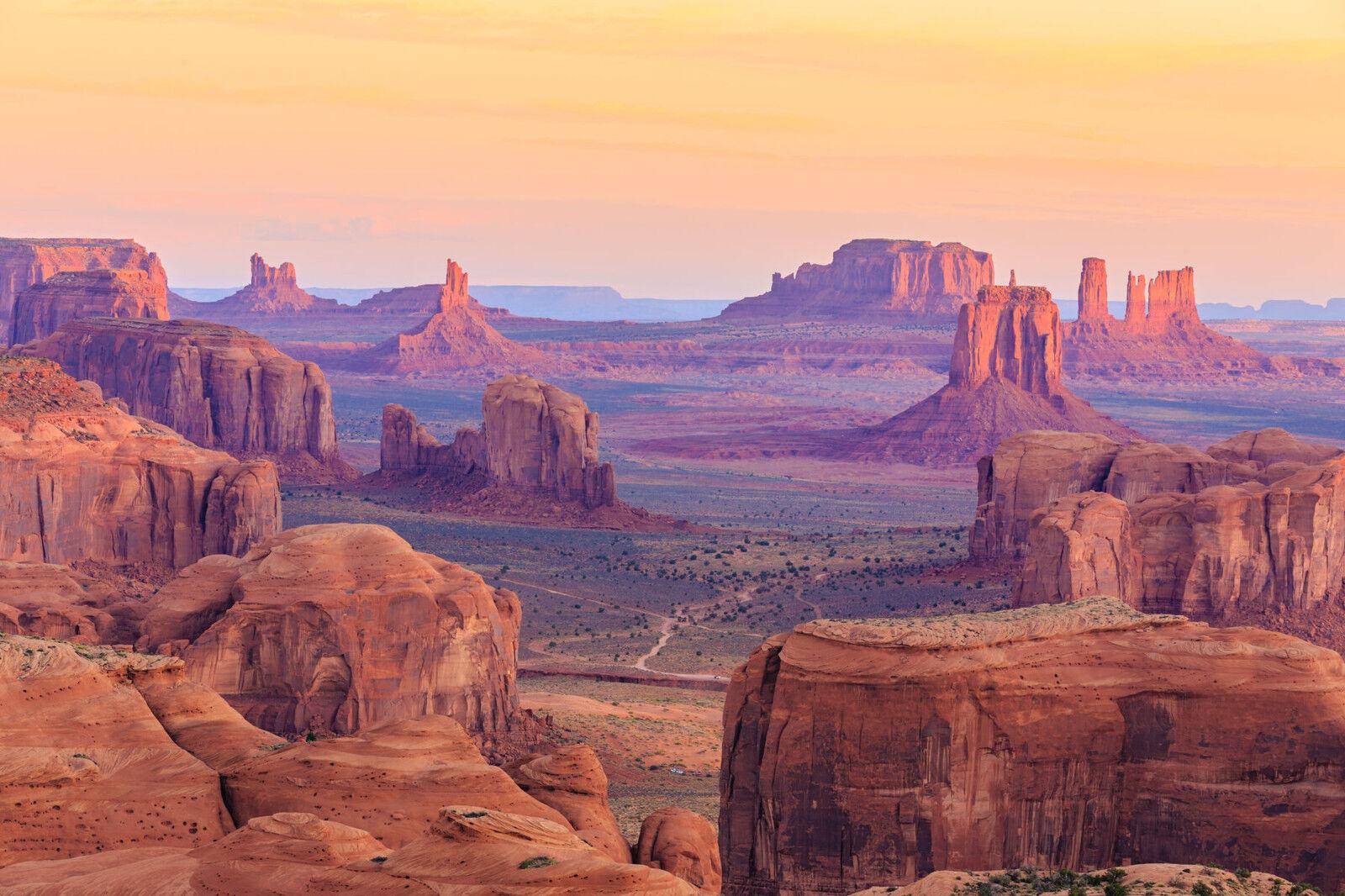 Papier Peint Photo INTISSé-(68V) HUNTS MESA-350x260cm 7lés-Mural-Monument Valley