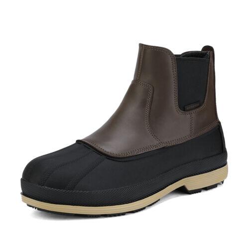 NORTIV 8 Men/'s Warm Snow Boots Waterproof Rugged Outdoor Winter Chelsea Boots US