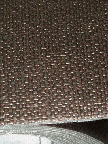 7 MTS VINYL FOAM BACKED DARK BROWN PANELS WALLS ROOF LINING UPHOLSTERY SS19