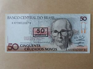 Brasil-50-Cruzeiros-1990-UNC-FOXING-AA