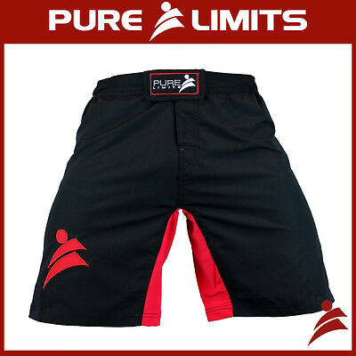 Pure Limits Mens Extreme Fitness Training Shorts - CrossFit WOD - Red