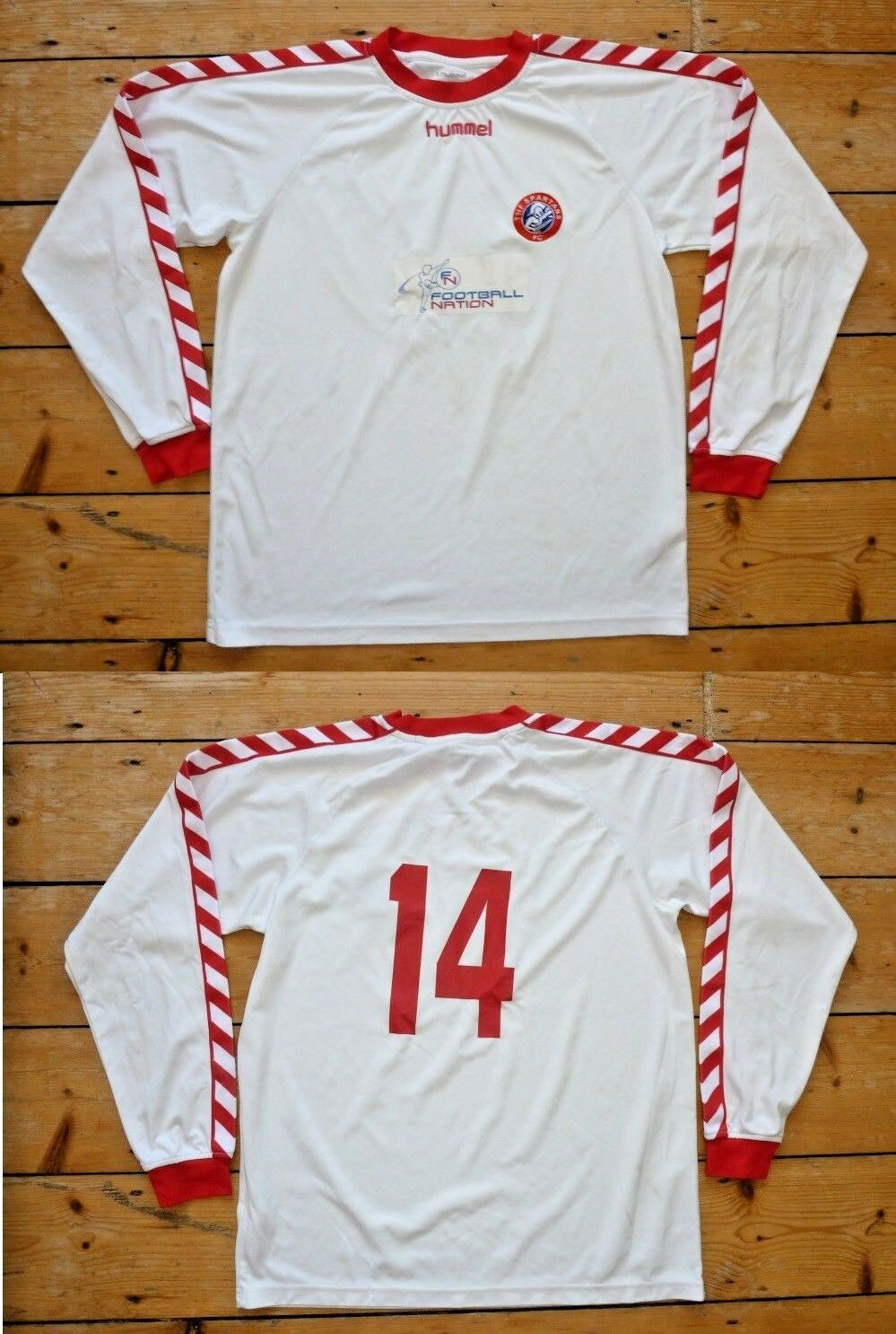 Größe: L Spartans Fußball Trikot  Fußball Shirt  Trikot 14 Matchworn Heim Trikot 4932f0