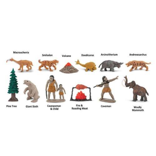 caveman mammoth volcano New PREHISTORIC LIFE Toob toys 12 figurines  models