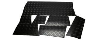 Lower Door Skirting Kit Black 3 /& 5 Door Discovery 2 - 2mm Chequer Plate