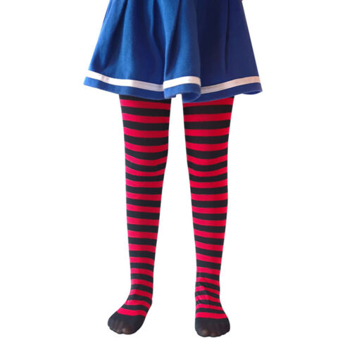 Children Girls Tights High Stocking Striped Long Socks Cosplay Party Christmas