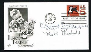 Cleveland Amory (d. 1998) & Nell Theobald (d. 1977) signed autograph auto FDC