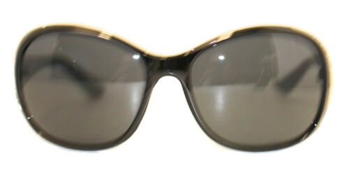 Esprit Womens Sunglass Black Crystal Stone Front Oval Plastic 19372 538
