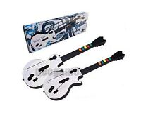 2x Wireless Xtreme Guitar For Guitar Hero Nintendo Wii Brand