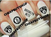 Top Quality》brooklyn Nets Basketball》nail Art Tattoo Decals《non-toxic》