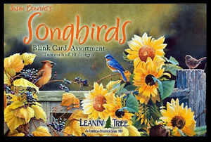Leanin-Tree-Greeting-Cards-Assortment-20-Cards-Box-Set-SONGBIRDS